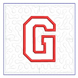 QUILT BLOCK G embroidery design
