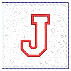QUILT BLOCK J embroidery design