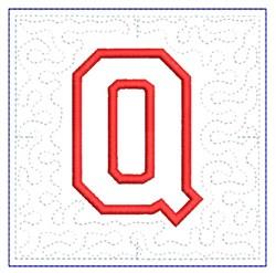 QUILT BLOCK Q embroidery design