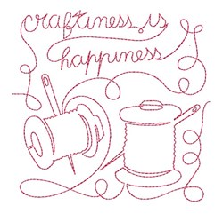 Craftiness is Happiness embroidery design