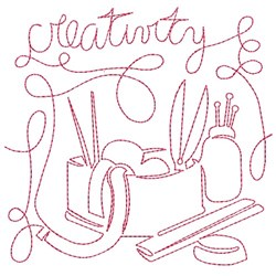 Creativity embroidery design