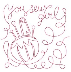You Sew Girl embroidery design