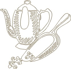 Coffee & Scoop embroidery design