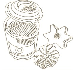 Coffee & Cookies embroidery design