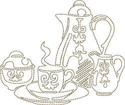 Coffee Service embroidery design