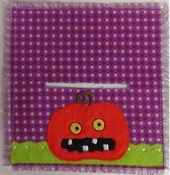 Jack-o-lantern Bag Topper embroidery design