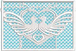 FSL Love Doves Envelope embroidery design