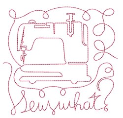 Sew What embroidery design