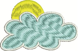 Sunny Cloud embroidery design