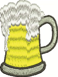 Glass Of Beer embroidery design
