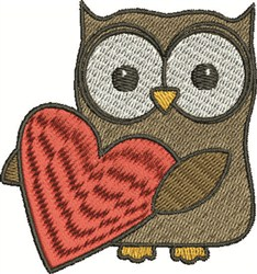 Valentine Owl embroidery design