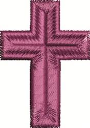 Purple Cross embroidery design