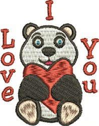 Love You Bear embroidery design
