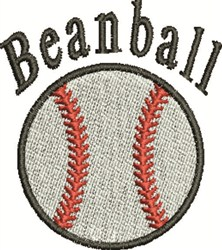 Beanball embroidery design
