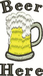 Beer Here embroidery design