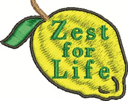Lemon Zest embroidery design