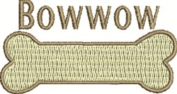 Bowwow Bone embroidery design