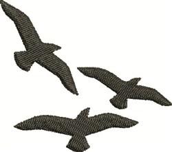 Birds Silhouette embroidery design