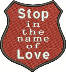 Love Badge embroidery design