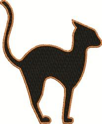 Black Cat embroidery design