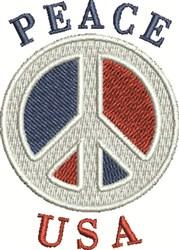Peace USA embroidery design