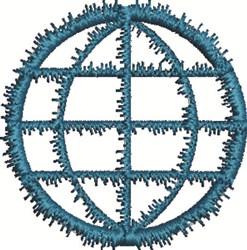 Earth Symbol embroidery design