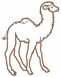 Camel Outline embroidery design