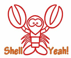 Shell Yeah embroidery design