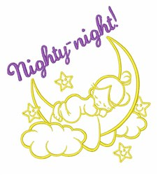 Nighty Night embroidery design