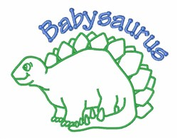Babysaurus embroidery design