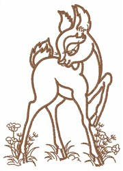 Bambi  Outline embroidery design
