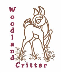 Woodland Critter embroidery design