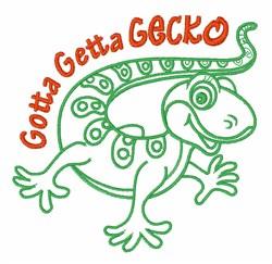 Getta Gecko embroidery design