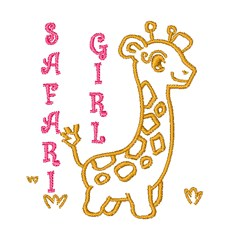 Safari Girl embroidery design