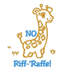 No Riff Raffe embroidery design