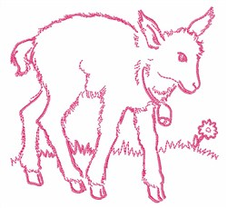 Goat Outline embroidery design