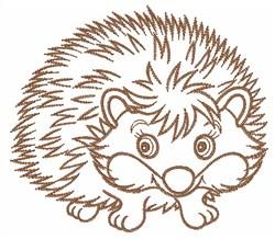 Hedgehog Outline embroidery design