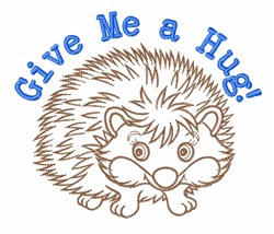 Give a Hug embroidery design