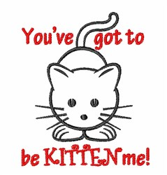 Kitten Me? embroidery design
