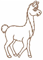 Llama Outline embroidery design