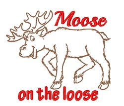 Moose on the Loose embroidery design