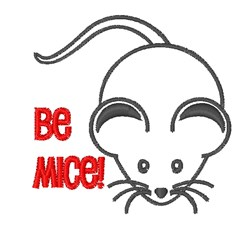Be Mice embroidery design