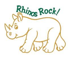 Rhinos Rock embroidery design