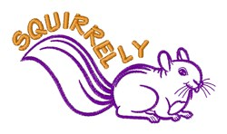 Squirrelly embroidery design