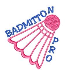Badmitton Pro embroidery design