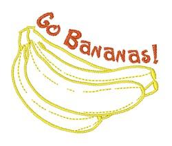 Go Bananas embroidery design