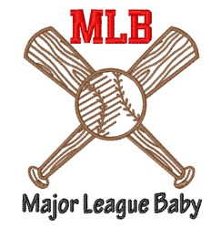 Major League Baby embroidery design