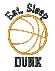 Eat Sleep Dunk embroidery design