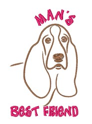 MansBest Friend embroidery design