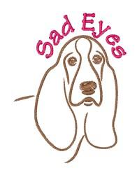 Sad Eyes embroidery design